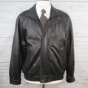 Brandini le collezioni Mens Leather Bomber Coat M